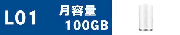 WiMAXワイマックスL01月容量100GB