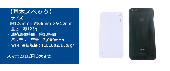レンタルポケットwifiU3は軽量コンパクト