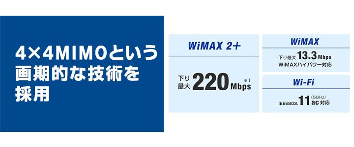 ワイマックスWX01充実の基本性能